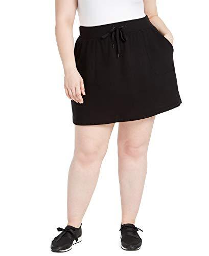 Ideology Womens Plus Fitness Workout Skirt Black 2X