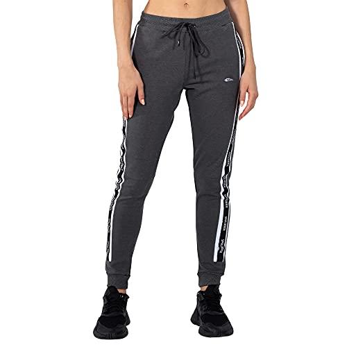 SMILODOX Damen Jogginghose Sinja - Lange Hose im Slim fit mit mid Waist Bund und Tunnelzug, Größe:S, Color:Anthrazit