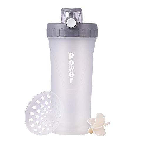 Protein-Shaker-Flasche inklusive Shaker-Ball & Mischgitter, BPA-frei & auslaufsicher, Shake-Mixer-Flasche, tragbare Sport-Wasserflasche, 28-Unzen