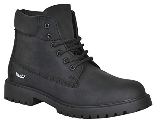West Code Mens Synthetic Leather Casual Hip Hop Shoes MP-3 Black 8 Size