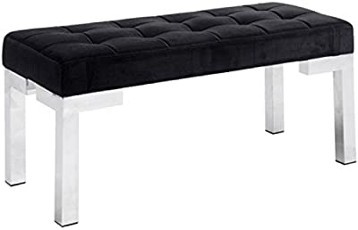 Amazon.com: Modern Leather Sevilla 3 Seater Bench - White ...