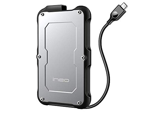Avolusion ineo (C2580c-480G+32G) IP66 Waterproof & Military-Grade Shockproof Rugged 480GB (512GB) USB 3.1 Portable External SSD + Free 32GB USB Flash Drive [R/W up to 550MB/s]