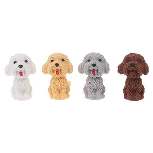 Wanfor Mini-Bleistift-Radiergummi, 3D-Design, süßer Cartoon-Hund, für Schule, Studenten, Koreanisches Schreibwaren, Korrekturzubehör für Kinder