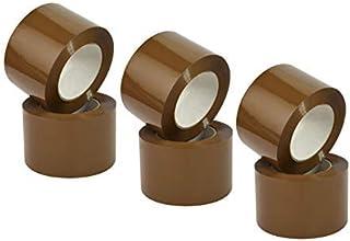 Nastro Marrone Adesivo Imballaggio per pacchi, Scocht da imballo, Scocht Avana da pacchi, 75mm x 132m - 6 rotoli