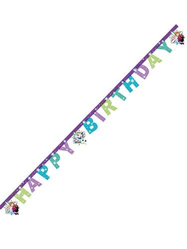 Girlande Happy Birthday, Frozen Snowflakes, mehrfarbig, PR86861