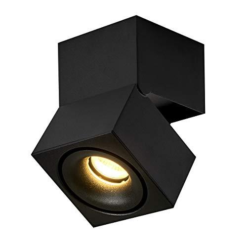 Preisvergleich Produktbild LANBOS 15W LED Strahler / dreh- und schwenkbar / Innen-Beleuchtung / Decken-Spot,  Deckenfluter,  Deckenstrahler,  Decken-Lampe,  Wand-Lampe / 10 * 15CM / 3000K Warmweiß / Aufbauleuchte (Schwarz+warmweiß)