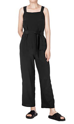 LilySilk vrouwen 100% zijde Jumpsuit hoge taille klassieke verstelbare schouderriem pak