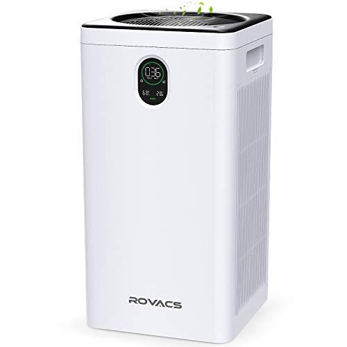 ROVACS Purificador de Aire para Hogar, Filtro HEPA, 99,97% Limpiador de Aire para Alergias, Mascotas, Pelo, Polvo, Ventilador...