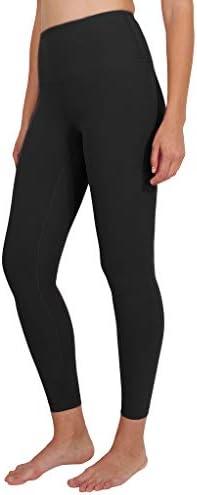 90 Degree By Reflex Ankle Length High Waist Power Flex Leggings 7 8 Tummy Control Yoga Pants product image