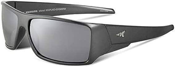 KastKing Iditarod Polarized Sport Sunglasses for Men and Women, Gloss Dark Gray Metalic Frame, Smoke Base Flash Mirror