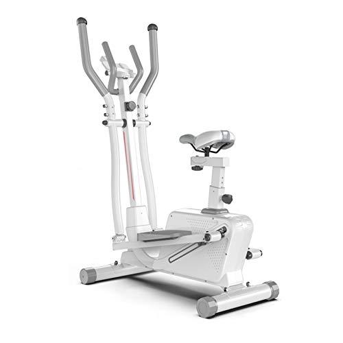 Spinning Cycle Home Fitness Equipment Pad Pad Radingmill Gimnasio Máquina Elíptica Máquina Elíptica Control Magnético Ejercicio Bicicleta Interior Stepper (Color : White)