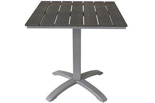 Kynast Non Wood Gartentisch 70 x 70 cm Silber/Anthrazit