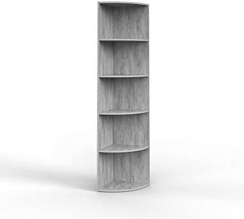 Vicco Eckregal 3 Dekore flexibel einsetzbar 5 Ablagen 180x40x40cm