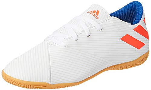 adidas Nemeziz Messi 19.4 IN Niño, Zapatilla de fútbol Sala, White-Solar Red-Football Blue, Talla 4 UK (36 2/3 EU)