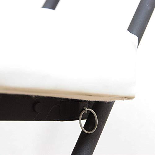 不二貿易折りたたみチェア幅37cmホワイト合皮キルト88530