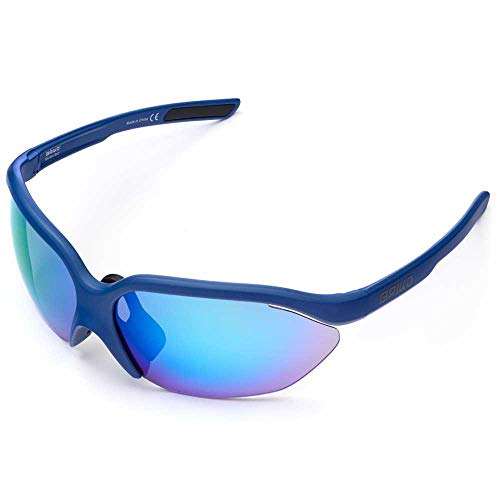 Briko Galaxy 2 Lenses Gafas Sol Ciclismo, Unisex Adulto, Regal Blue, One