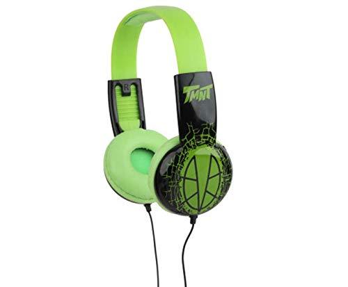 Teenage Mutant Ninja Turtles Kids Safe Over The Ear Headphones HP2-03265  Kids Headphones, Volume Limiter for Developing Ears, 3.5MM Stereo Jack, Recommended for Ages 3-9, by Sakar