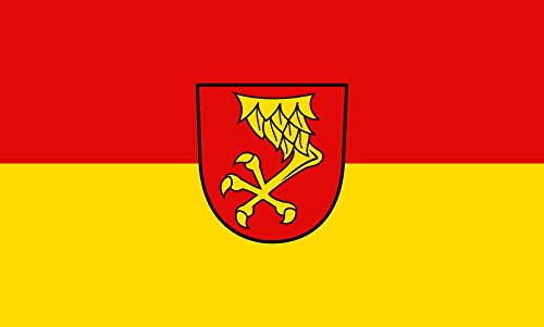 Unbekannt magFlags Tisch-Fahne/Tisch-Flagge: Nusplingen 15x25cm inkl. Tisch-Ständer