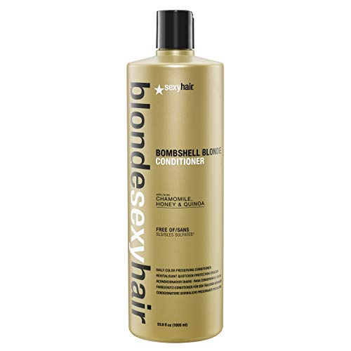 Sexy Hair Blonde Bombshell Blonde Conditioner sans Sulfate pour Unisexe 33.8 oz 999.60 ml