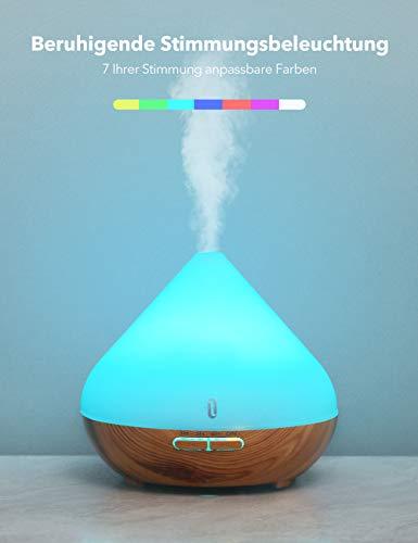 Aroma Diffuser 300ml TaoTronics Luftbefeuchter Oil Düfte Humidifier Holzmaserung LED mit 7 Farben für Yoga Salon Spa Wohn-, Schlaf-, Bade- oder Kinderzimmer Hotel - 3