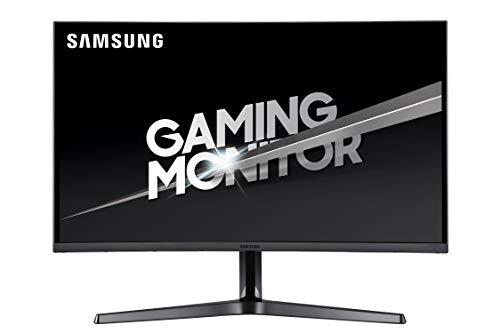 Samsung C27JG52 Monitor Gaming Curvo 27 Pollici, WQHD, 2K, 2560 x 1440, 4 ms, 16:9, 144 Hz, 1440p, 1800R, 1 Display Port, 2 HDMI, Base a Doppio Snodo, Colore Nero