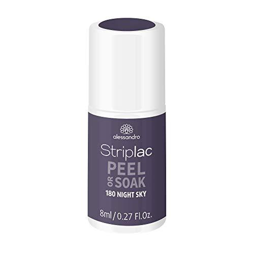 alessandro Striplac Peel or Soak - NIGHT SKY - LED-Nagellack in Violett - Für perfekte Nägel in 15 Minuten, 8ml