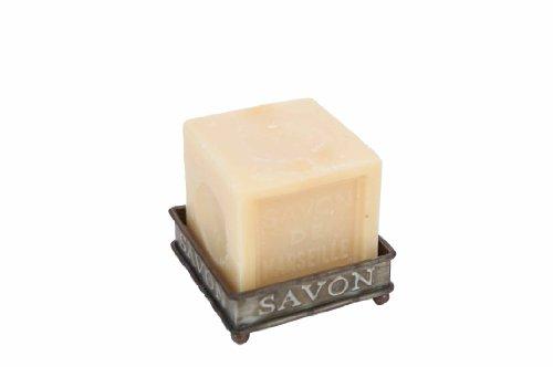 Porte savon éponge zinc carré avec pieds