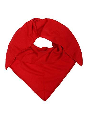 Zwillingsherz Dreieckstuch Stola Schal aus 100% Kaschmir für Damen Mädchen Jungen Kinder - Hochwertiges Cashmere Halstuch im Uni Design - Umschlagtuch - Damenschal für Frühling Herbst Winter - rot