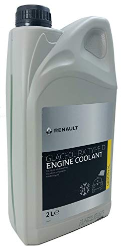 Renault Kühlmittel Glaceol RX Typ D Grünes Kühlmittel Frostschutzmittel, 2 Liter