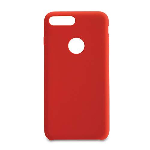 Capa Pong Apple Iphone 7 Plus Liquid Silicon, Customic, Capa Anti-Impacto, Vermelho
