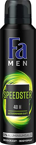 FA Deospray Men Speedster Aktivierender Duft, 6er Pack (6 x 150 ml)