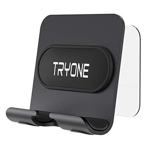 Tryone Soporte Móvil Pared: Soporte para Celulares y Tablets Montado en Pared para Cargar,Autoadhesivo Soporte Móvil para Phone XS MAX XR X 8 7 6S 6 Plus 5S, Samsung S10 S9 S8 S7 S6, Otros Teléfonos