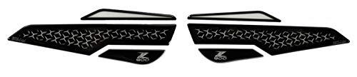 BIKE-label 800669 Seiten Tankpad Transparent Schwarz kompatibel für Kawasaki Z900