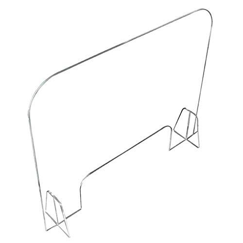 GETZ MSYO Pantalla Protección Mostrador, Mampara de Protección en Metacrilato Transparente para Contadores y Ventana de Transacción, Grosor 4 Mm, 9 Tamaños