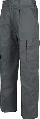 Work Team Pantalón. Elástico en cintura, multibolsillos: dos bolsos laterales en perneras. HOMBRE Gris 40