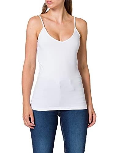 Vero Moda NOS Damen Top VMMAXI MY SOFT V SINGLET NOOS, Weiß (Bright White), 38 (Herstellergröße: M)