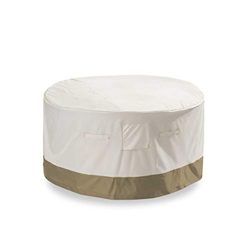 Lumaland Cubierta Lona Protectora Impermeable para Muebles de jardín Cubierta para Mesa Cuadrada de Comedor 67,3 (Alto) cm, 127 (L) cm, 66 (W) cm Oxford 600D 280 g/m² Beige