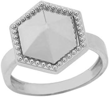 Super Special SALE held Elegant Super sale 10k Gold Milgrain Ring Statement Honeycomb Shaped