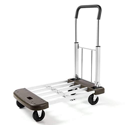JYTBD YUN TAO Multifunctionele trolley Vouwen Flatbed Home 4 Rondes Van Mute Draagbare Vrachtwagens Vans Laden Capaciteit 150kg