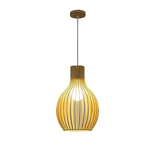 CSD Moderna minimalista nórdico de madera creativo del arte de madera sólida jaula de la sala de estar de la lámpara de iluminación del restaurante Villa jaula de pájaro de la lámpara del arte de bamb