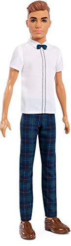 Barbie FXL64 - Ken Puppe im klassischen Outfit mit Fliege und braunen Haaren, Puppen und Puppenzubehör ab 3 Jahren