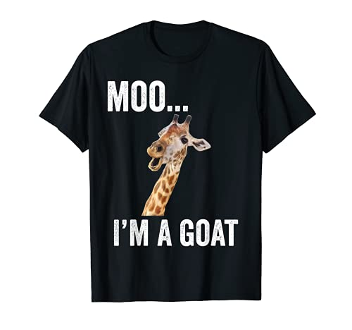 MOO I'M A GOAT Funny Farm Animal Zoo Gift T-Shirt
