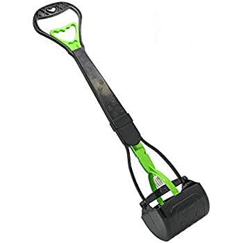 """Living Express 28"""" Large Pooper Scooper for Dog-Long Handle Dog Poop Scooper-Pet Waste Pick Up Jaw Scooper Without Smelling,Durable Spring Easy to Use,Perfect for Grass,Dirt,Gravel"""