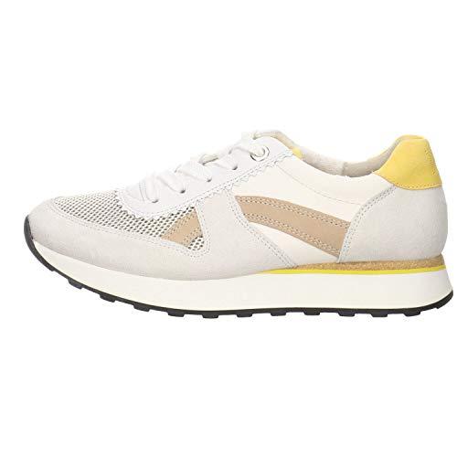 Paul Green Damen Sneaker 4918, Frauen Low-Top Sneaker, strassenschuh schnürer schnürschuh sportschuh weibliche Ladies,MET Ice/ORO,37.5 EU / 4.5 UK