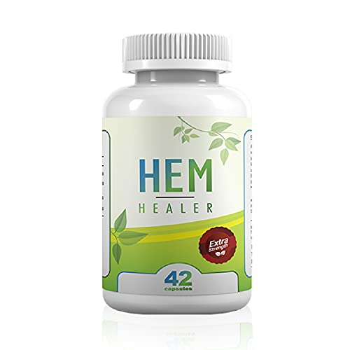 Hem Healer Hemorrhoid Treatment for Hemorrhoid Relief, Reduce Swelling and Inflammation, Soothe Itching, Burning, and Irritation, 100% Safe & Natural, Vegan - Vegetarian Friendly (42 Capsules)
