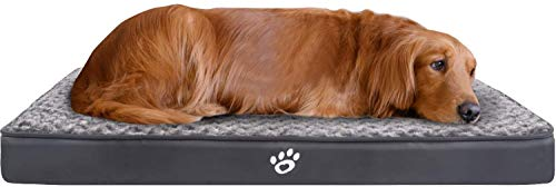 FAREYY Dog Beds Large Washable, Eggshell Foam Orthopedic Dog Bed with Removable Zipper Cover, Pet Bed Designed in Lining and Non-Slip Bottom