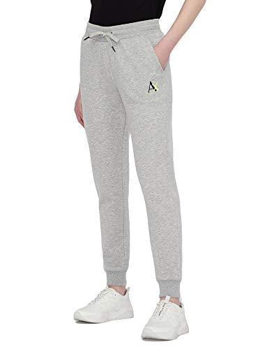 Armani Exchange Logo Sweatpants Pantalón Deporte, Bc04 Htr Grey, XL para Mujer
