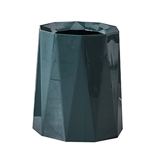 Oukerde 1 pcs Bote de Basura de plástico,Cubos Basura Rhombus sin Tapa,Cesto de Basura para Cocina,Dormitorio y baño,Papelera de Basura 8L/12L,Barril de Doble Capa