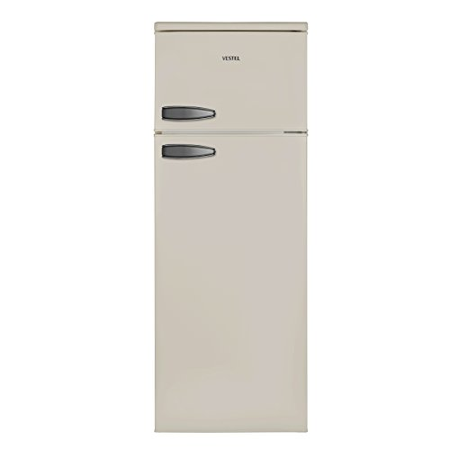 Vestel VFKC3196 Kühl-Gefrier-Kombination (Gefrierteil oben) / A++ / 144 cm 173 kWh/Jahr / 171 L Kühlteil / 42 Gefrierteil / LED-Innenbeleuchtung / Temperaturregelung / Beige