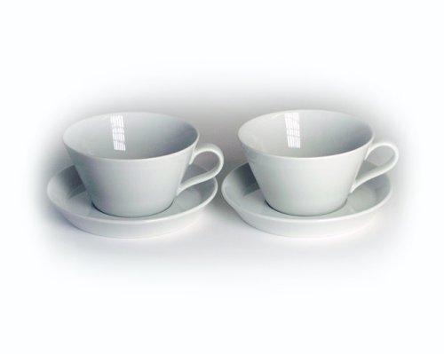 Arzberg Form Tric 2er Set Cafè-au-lait-Tassen 0,35Ltr. weiß